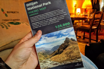 Dilijan-National-Park-Paper-Hiking-Map-In_Action