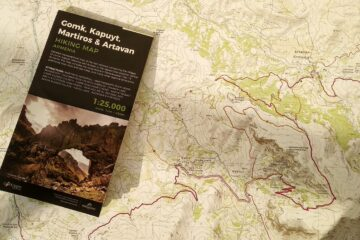 Vayots Dzor Gomk topo hiking map - central Armenia