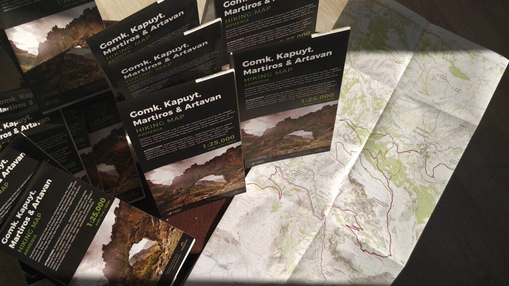 Vayots Dzor Gomk topo hiking map - central Armenia - Launch