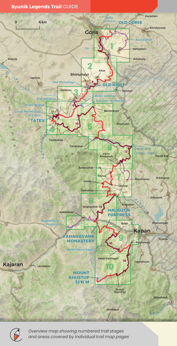 Syunik_Legends_Trail_Guidebook_Overview_Map