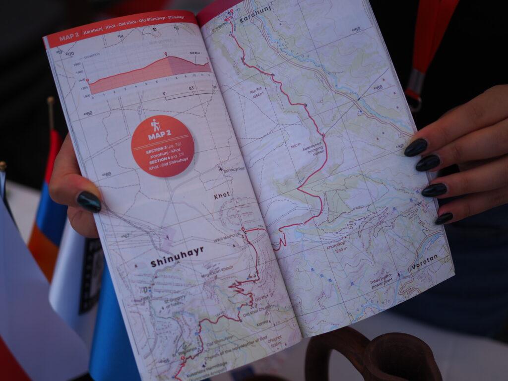 Syunik Legends Trail Hiking Guidebook open