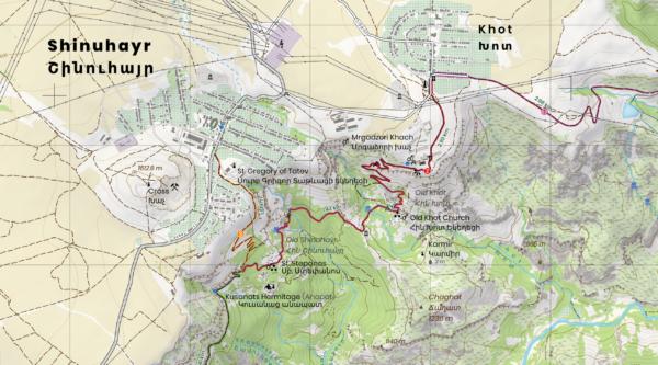 Old Khot map enlargement at 25k